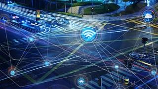 data street gps network blue black