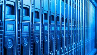 servers row blue