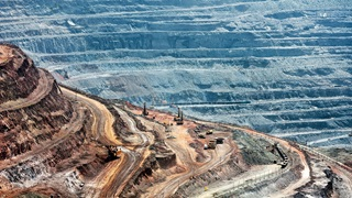 Aerial view of a mining site