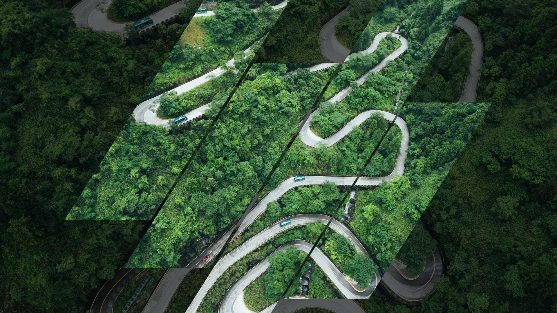 aerial view winding river with green energy transition style