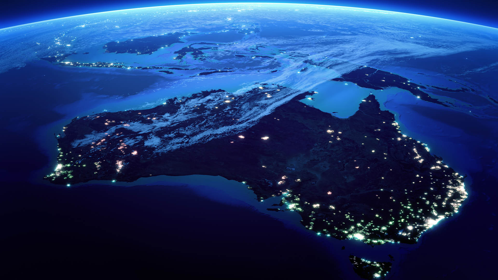 Australia-globe-earth-lights-night-blue