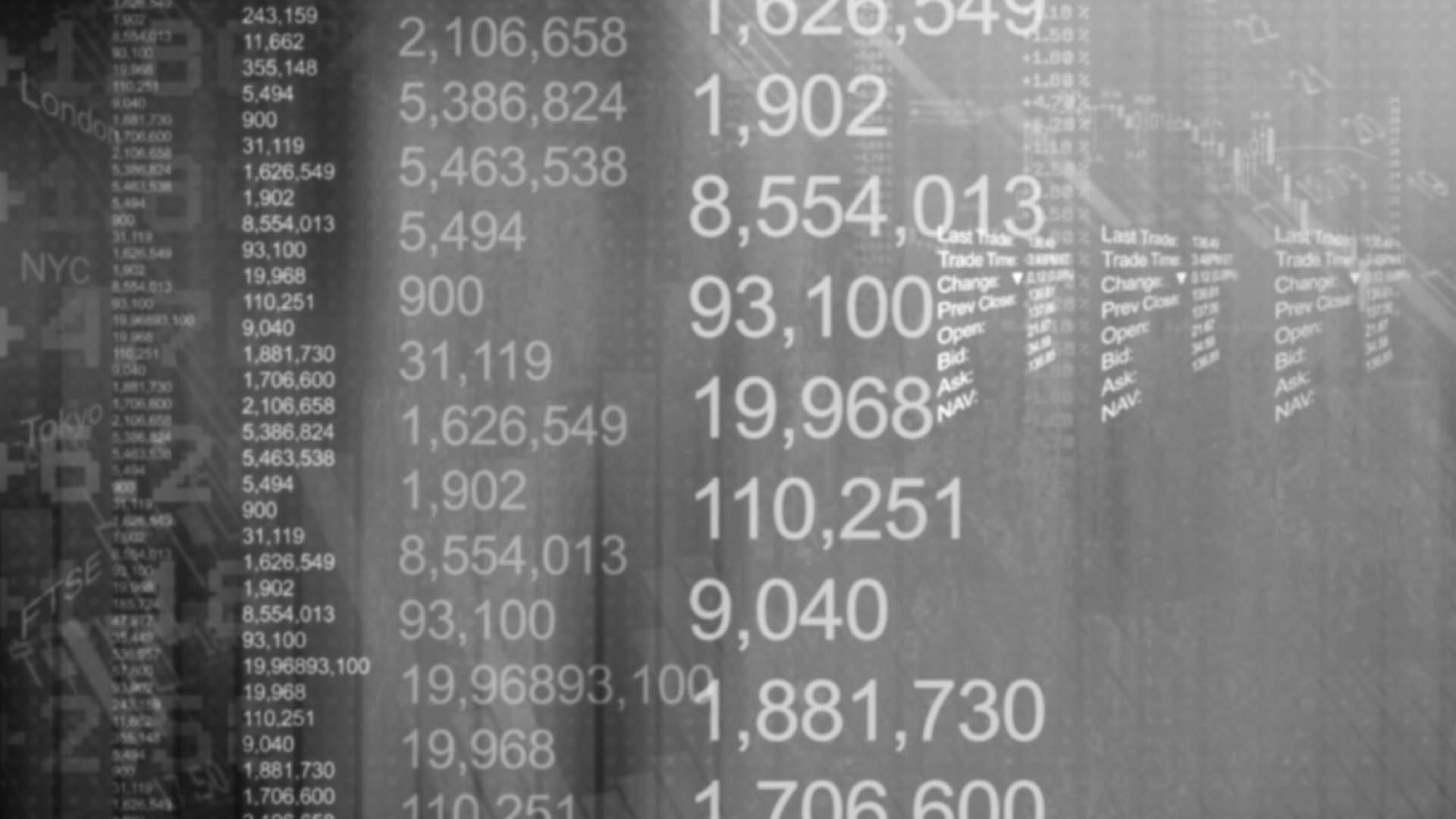 numbers black and white