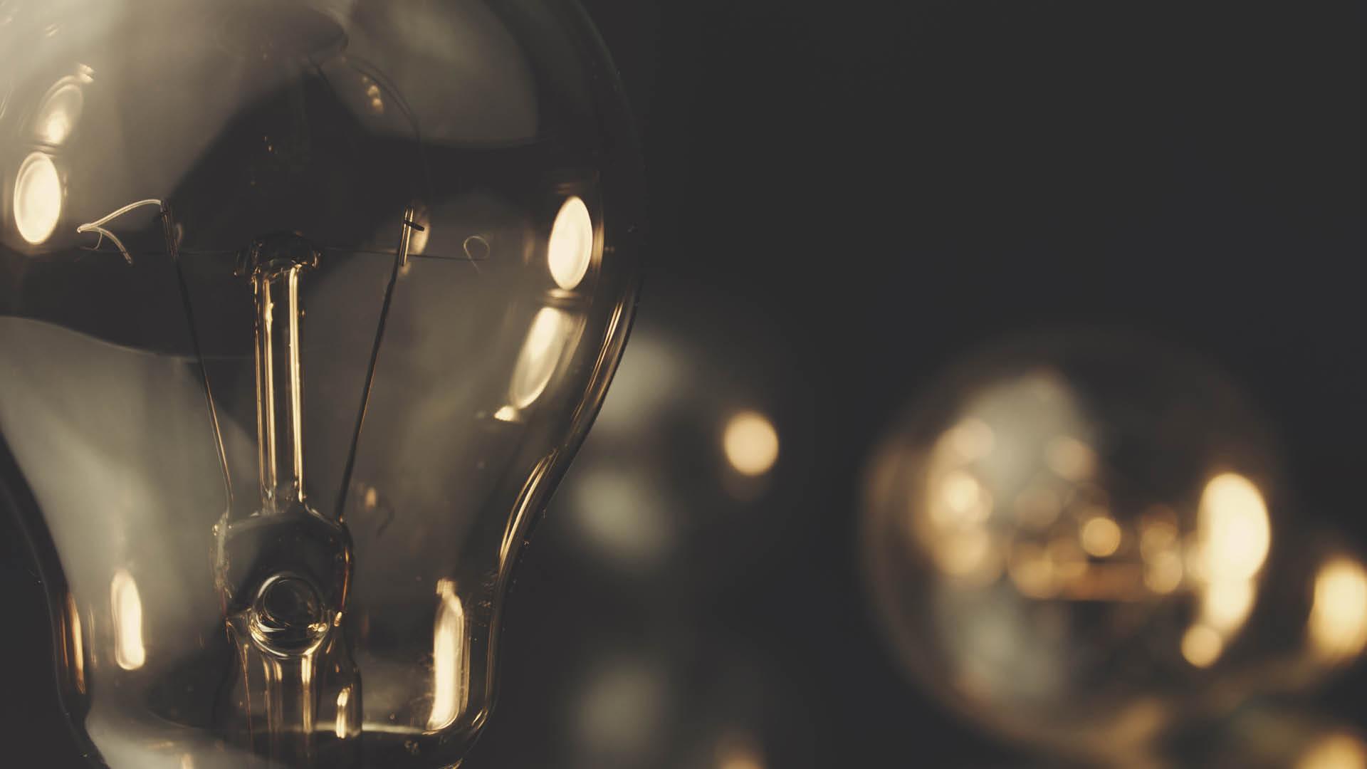 bulb in dark background