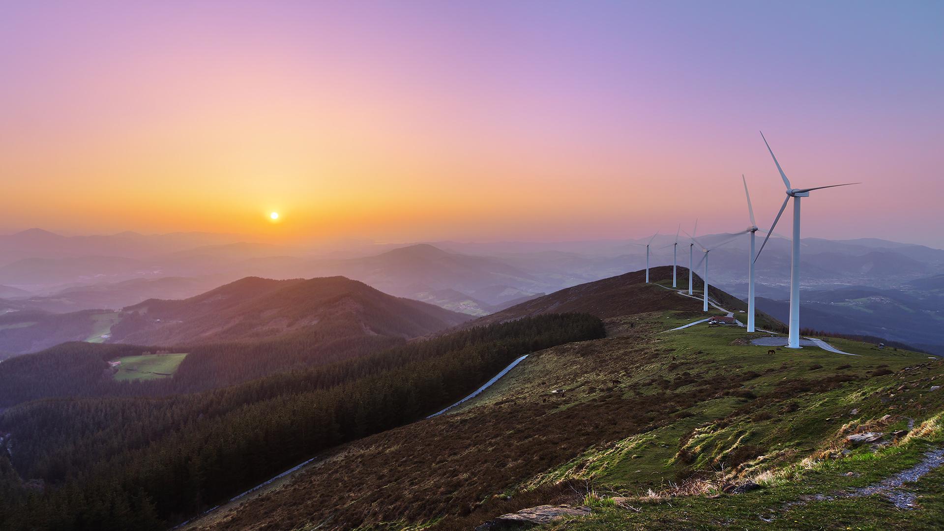 Winfarm on a hilltop
