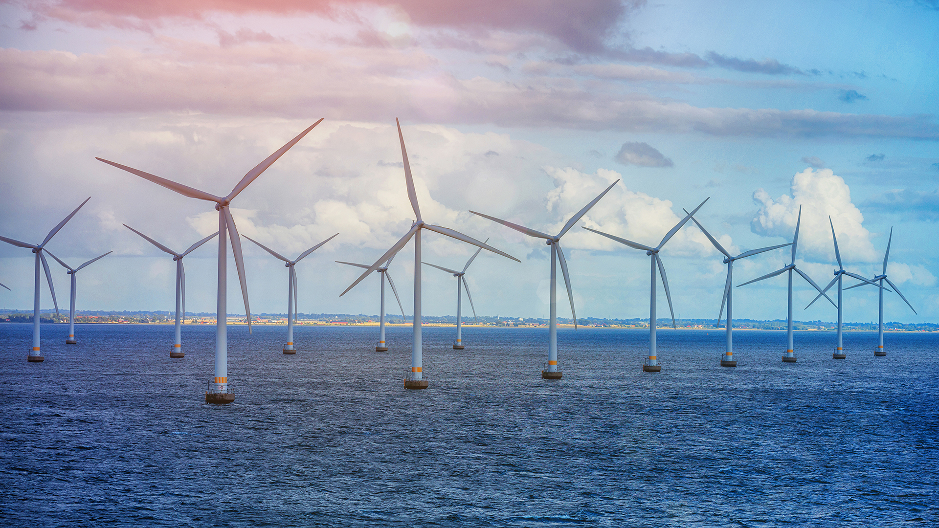 Energy windfarm at sea