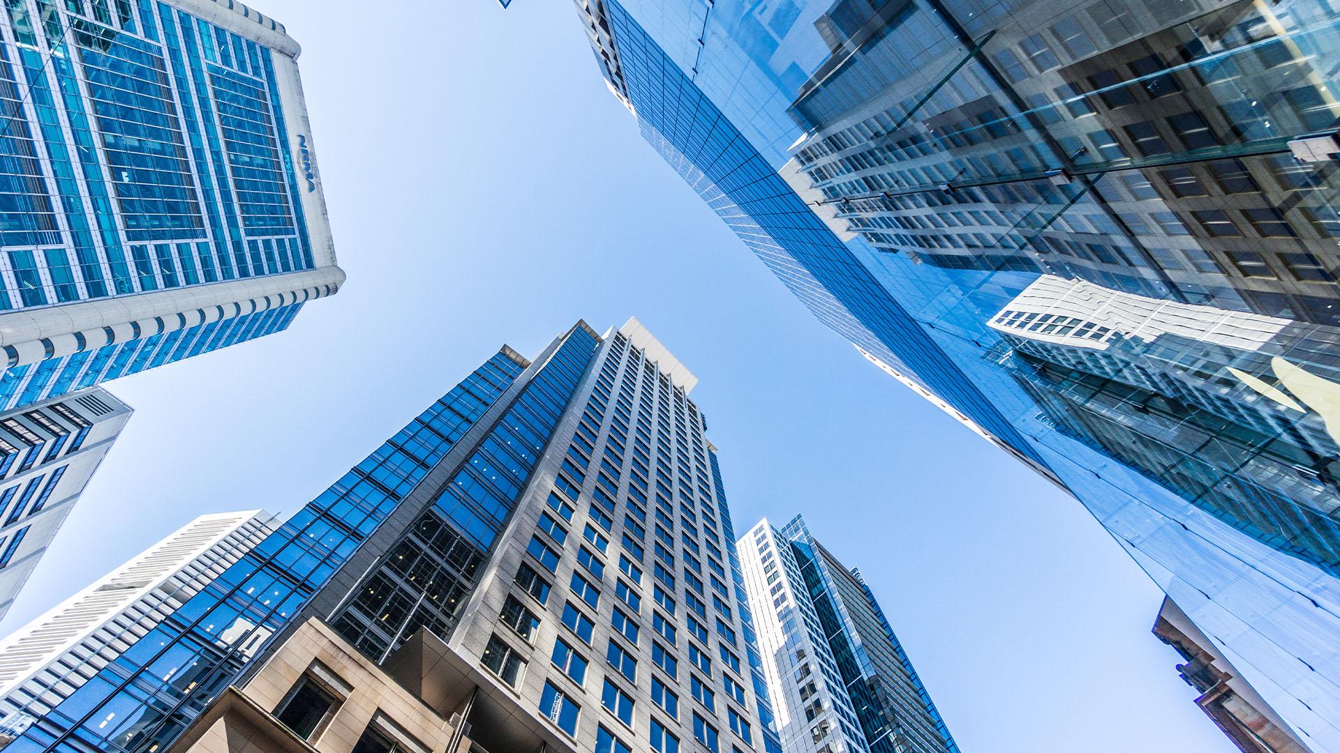 Financial-institution-building-generic-blue-office-skyscraper-Australia