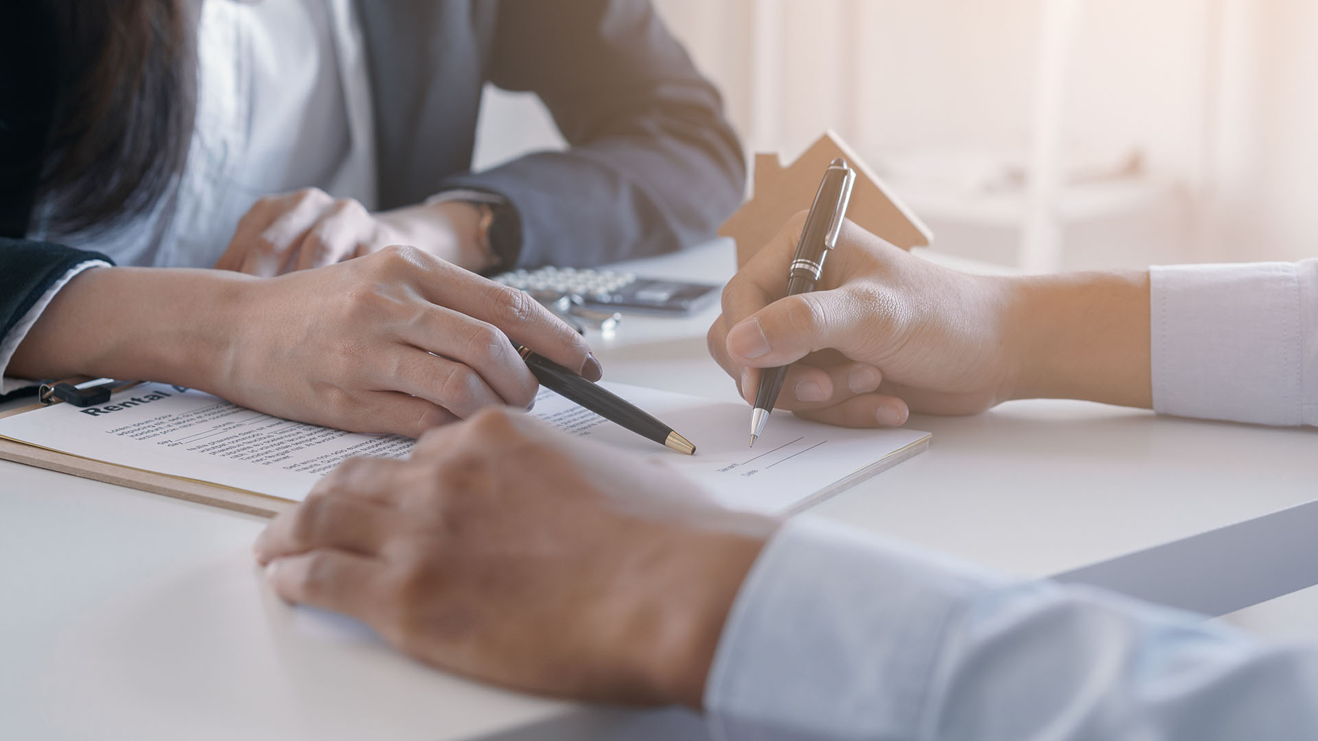 Financial-institution-contract-agreement-papers-signing