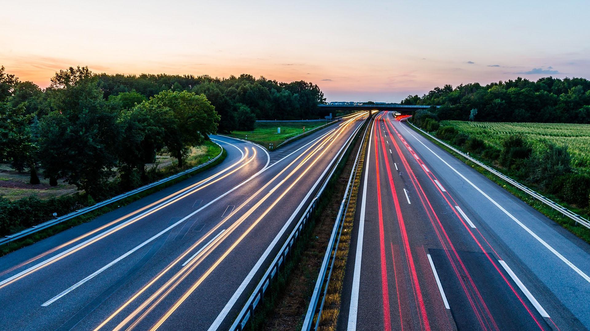Germany-road-sunset-transportation