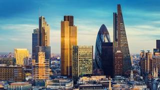 London skyline, view of City skyscrapers