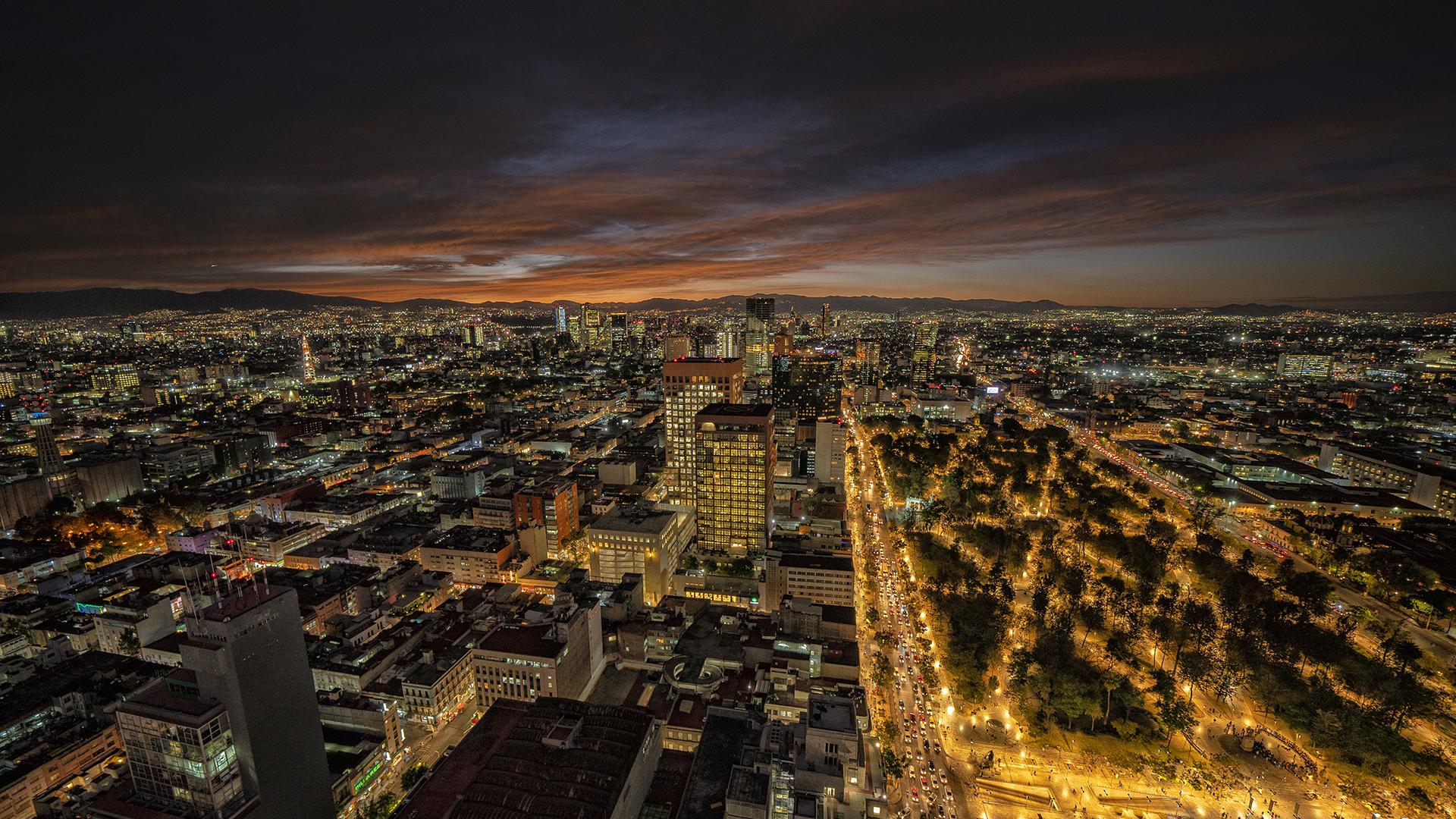 mexico skyline at night