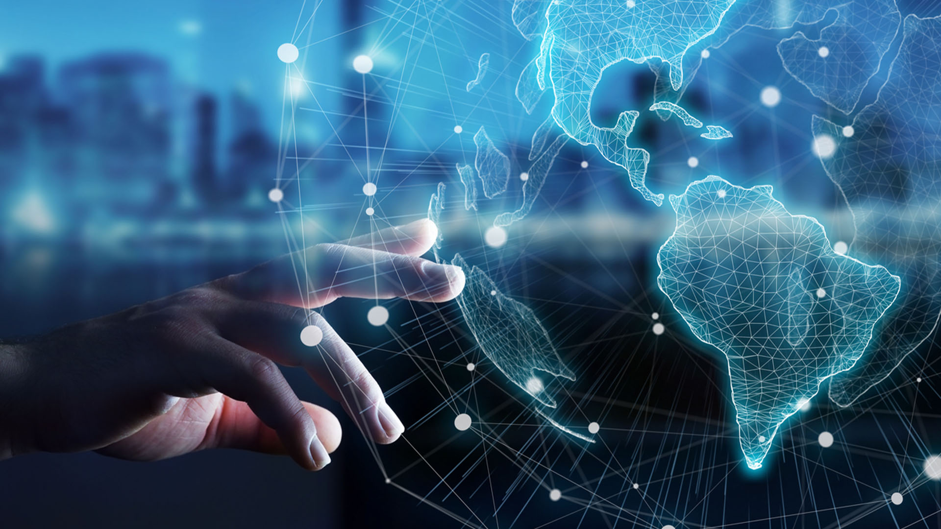Technology-innovation-global-hub-hand-point-connect
