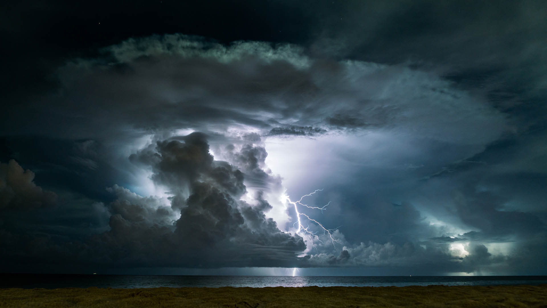 thunderstorm in the sea