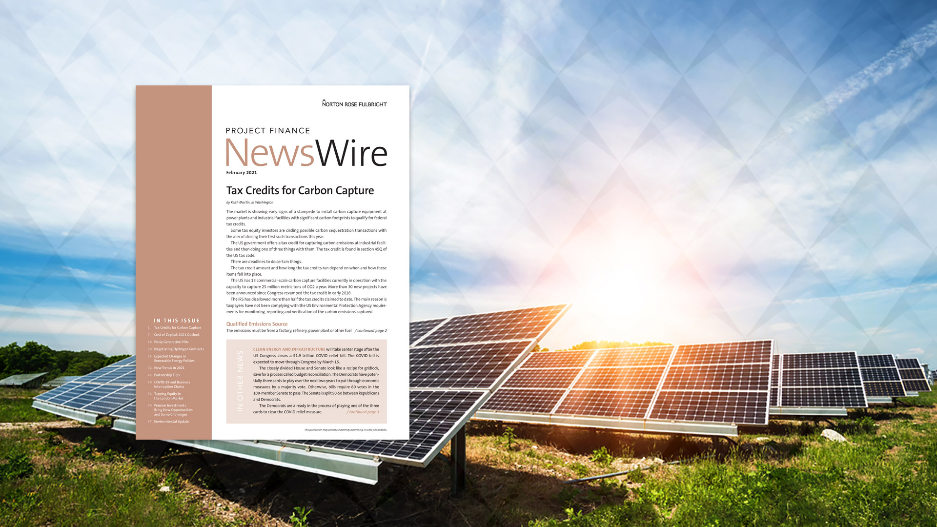 Download Norton Rose Fulbright's Project Finance NewsWire