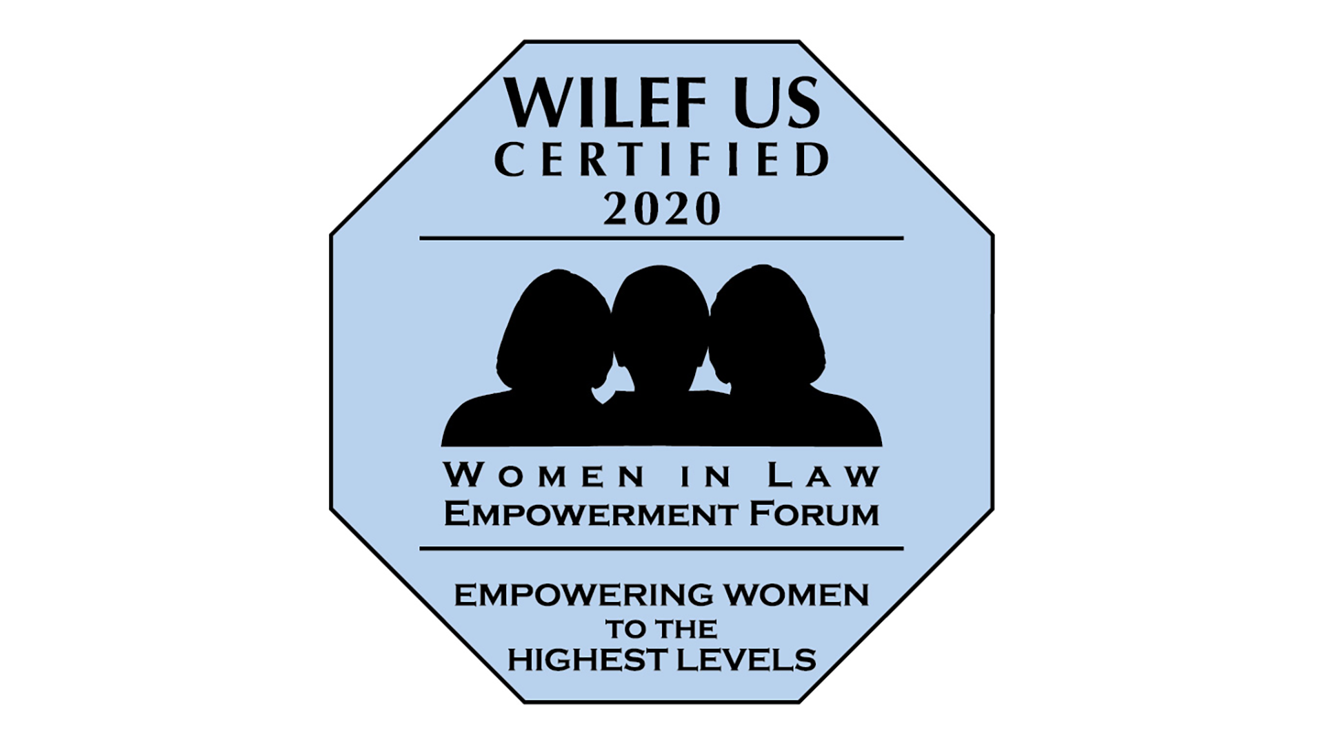 WILEF US Certified 2020 badge