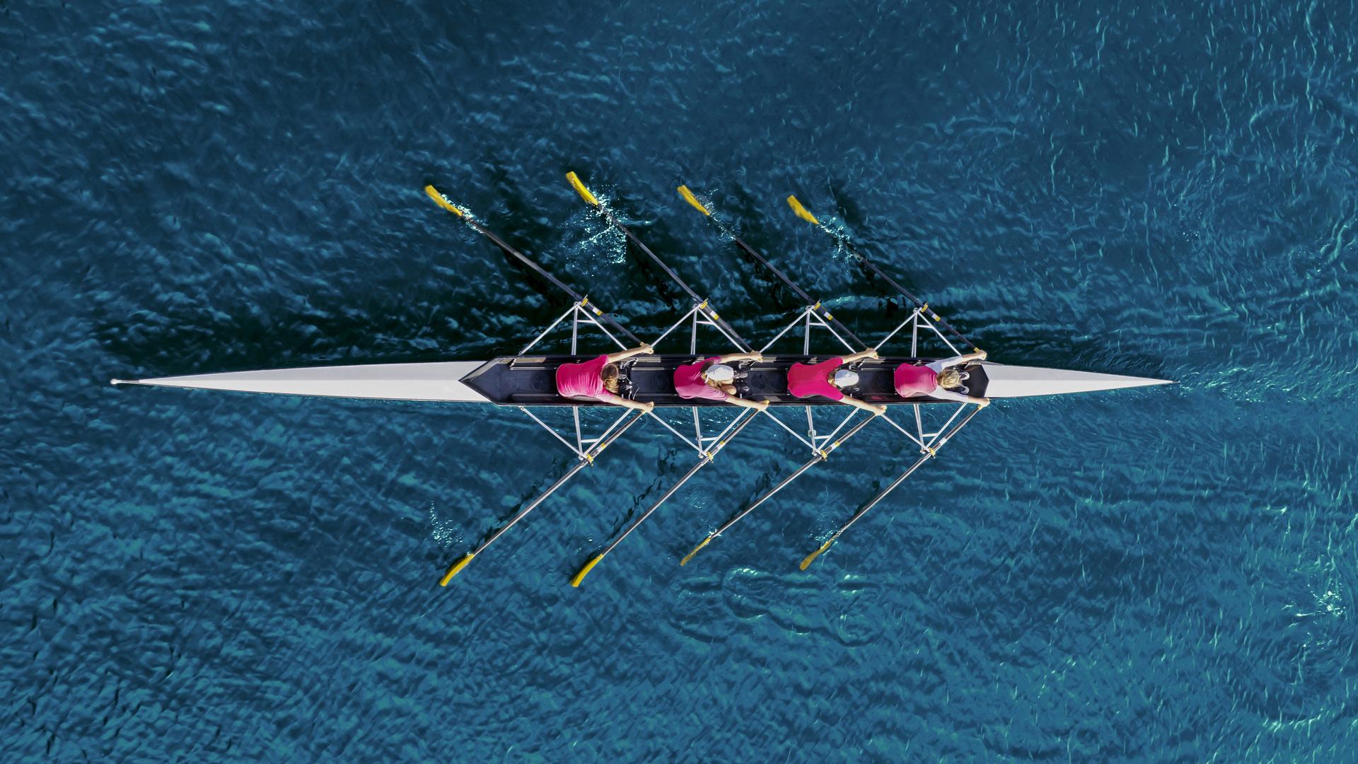 Boat rowing team
