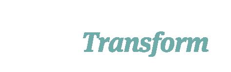 White mint Transform Logo