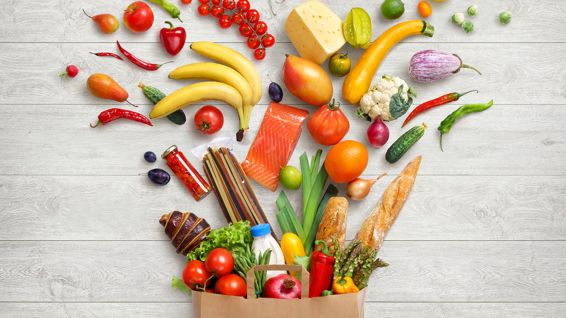 food challenge vegetables bag