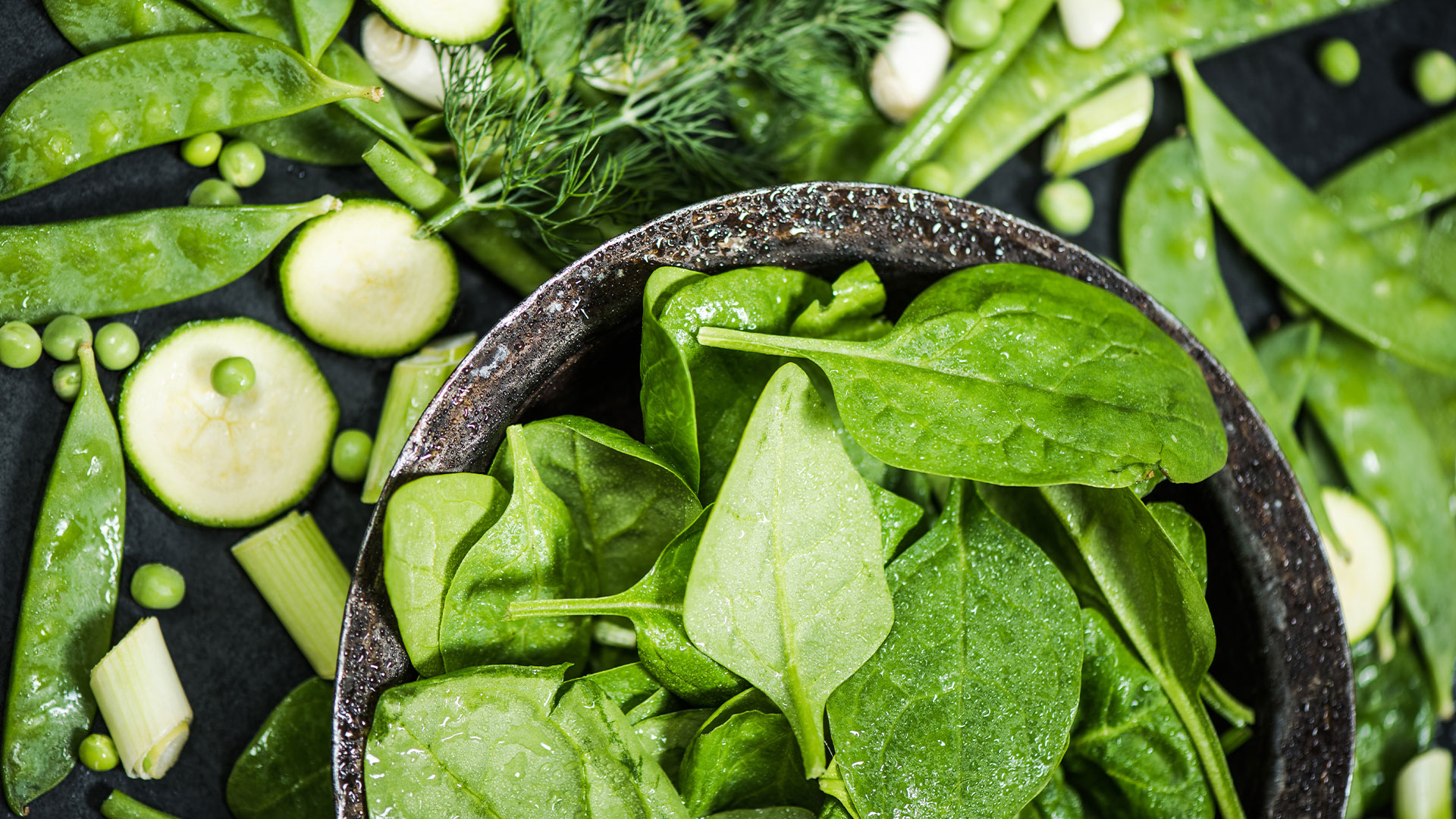 Image of leafy greens and green vegetables