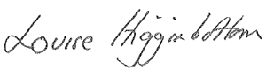 Louise Higginbottom signature
