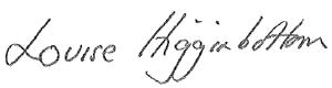 Louise Higginbottom signature