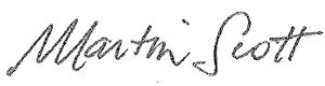 Martin Scott signature
