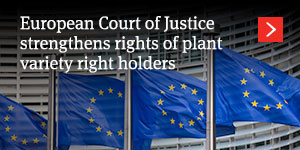 European Court of Justice strengthens rights of plane variety right holders