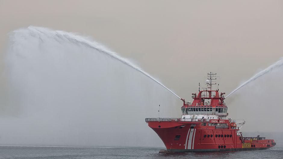 Fires at sea