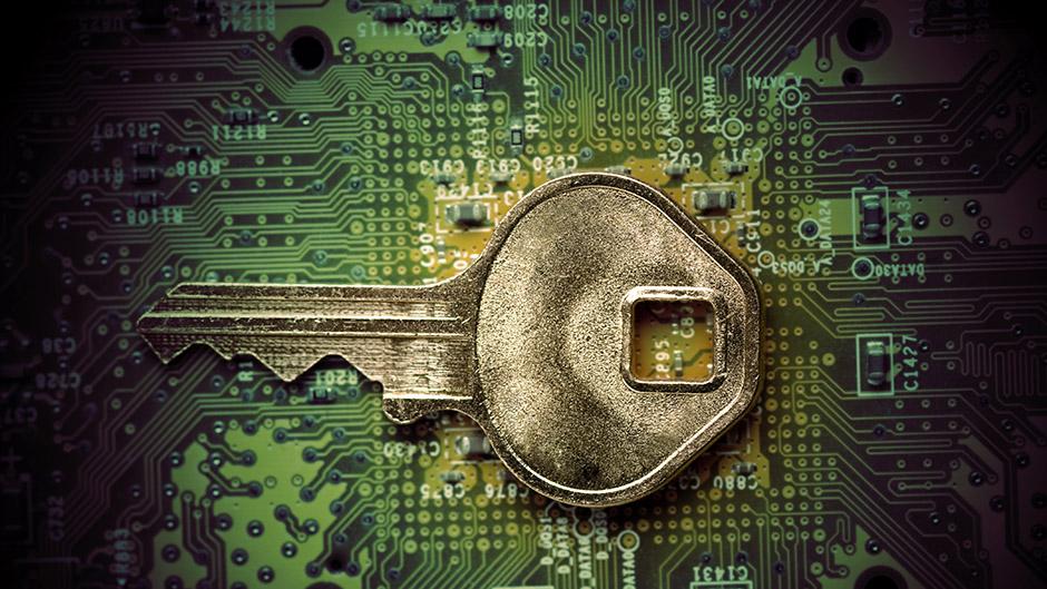 Key on circuit board