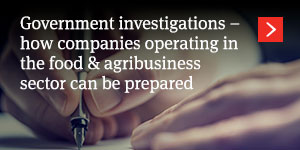 Government investigations: how companies operating in the good and agribusiness can be prepared