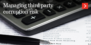 Managing third party corruption risk