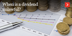 When is a dividend unlawful?