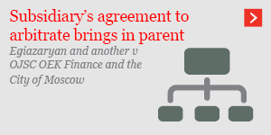 Subsidiary's agreement to arbitrate brings in parent