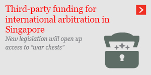 Third-party funding for arbitration in Singapore
