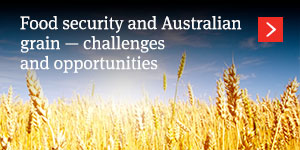 Food security and Australian grain – challenges and opportunities