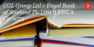 CGL Group Ltd v Royal Bank of Scotland Plc [2017] EWCA Civ 1073