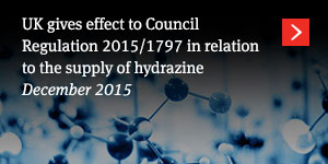 UK gives effect to Council Regulation 2015/1797 in relation to the supply of hydrazine