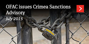 OFAC issues Crimea Sanctions Advisory