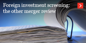 Foreign investment screening