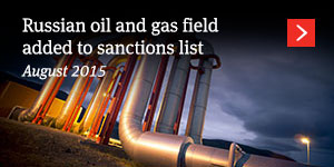 Russian oil and gas field added to sanctions list