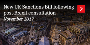 New UK Sanctions Bill following post-Brexit consultation