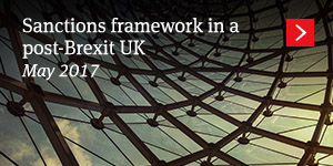 Sanctions framework in a post-Brexit UK