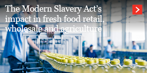 Food for Thought: The Modern Slavery Act's Impact in Fresh Food Retail, Wholesale and Agriculture