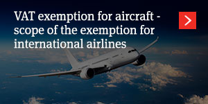 VAT exemption for aircraft
