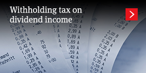 Withholding tax on dividend income