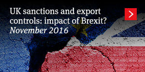 UK sanctions and export controls: impact of Brexit?