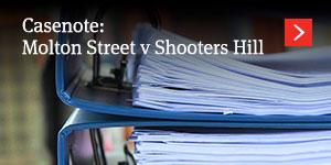 Molton Street v Shooters Hill