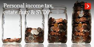 Personal Income tax, estate duty & SVDP