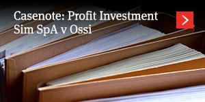 Profit Investment Sim SpA v Ossi