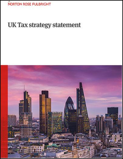 UK Tax strategy statement