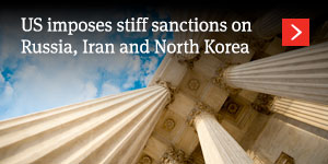 US imposes stiff sanctions on Russia, Iran and North Korea